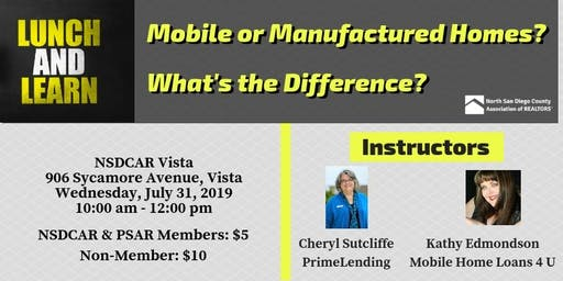 Lunch & Learn - Mobile or Manufactured? What's the difference?