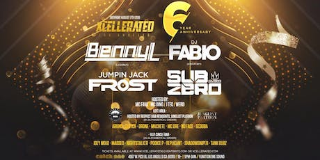 Xcellerated 6 Year Anniversary Feat. Benny L (LA Debut), Fabio (2 Hour Set), Jumpin Jack Frost, & Sub Zero / Room 2 Hosted By Respect D&B Residents: Junglist Platoon / 3 Rooms Top floor Catch One (18+) Saturday August 17th 2019 tickets