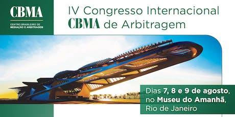 IV Congresso Internacional CBMA de Arbitragem ingressos