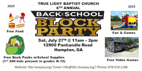 Back-2-School Community Block Party tickets