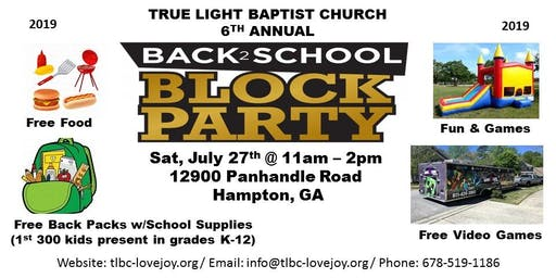 Back-2-School Community Block Party