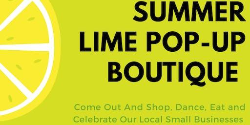 Summer Lime Pop-Up Boutique Vendor Registration !