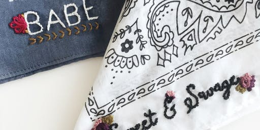 Embroidered Bandana Class