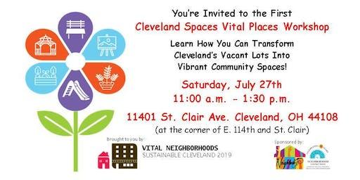 Cleveland Spaces Vital Places Workshop 1: Program Overview