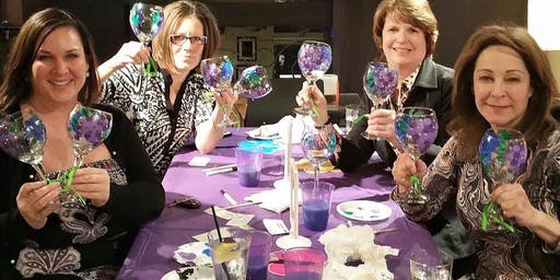 Wine Glass Painting class @ Fleastyle - Dallas 7/29 @6:30 pm