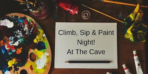 Climb, Sip & Paint Night!