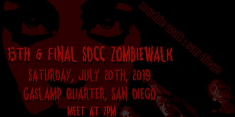 The 13th & Final SDCC Zombiewalk tickets