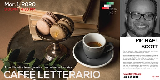 Caffè Letterario Speaker Series presents Michael Scott