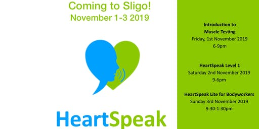 HeartSpeak 3 Courses: 1-3 November 2019 - Sligo, Ireland