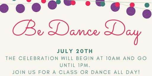"""Be Dance"" Day - A free community event"