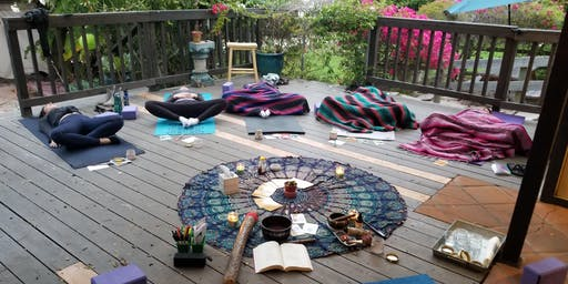 Lunar Eclipse Full Moon Cacao and Yoga on the Deck