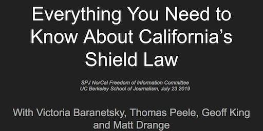 SPJ NorCal Shield Law workshop