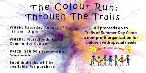 Trails Of Summer Colour Run Fundraiser