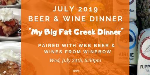 My Big Fat Greek Beer & Wine Dinner!