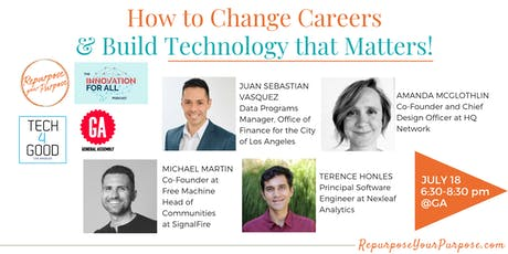 How to Change Careers & BUILD TECH THAT MATTERS! tickets