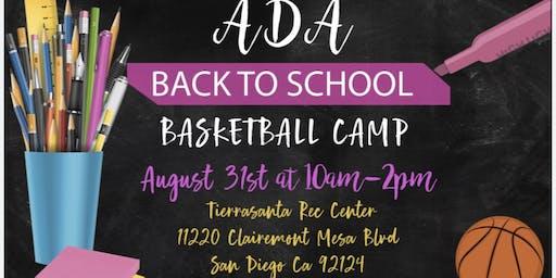 ADA Back To School Basketball Camp