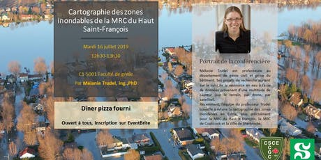 Lunch & Learn : Cartographie des zones inondables par Mélanie Trudel, ing. Ph. D. billets