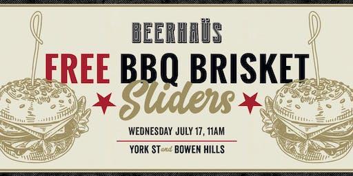 500 Free BBQ Brisket Slider + 10c Wings!