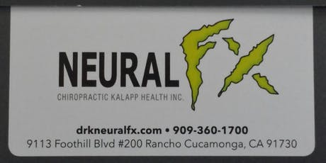 HEALTHY JULY CHIROPRACTIC SPECIAL @ NEURAL FX, RANCHO CUCAMONGA-CALL TODAY! tickets
