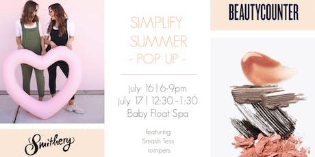 Simplify Summer Pop Up tickets