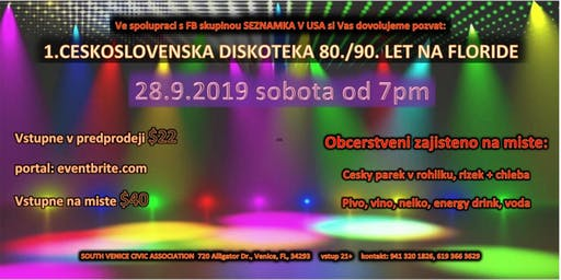1. Ceskoslovenska diskoteka 80./90. leta  na Floride