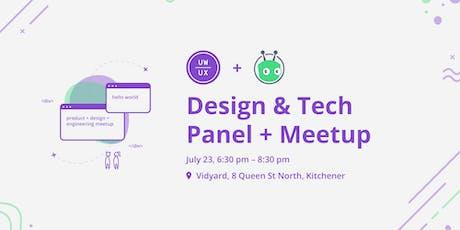 Design & Tech Panel + Meetup @Vidyard tickets
