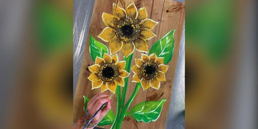Sunflower: Kent Narrows, Harris Crab House with Artist Katie Detrich!