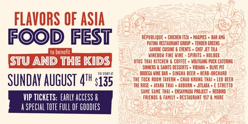 Flavors of Asia Food Fest to benefit Stu and The Kids