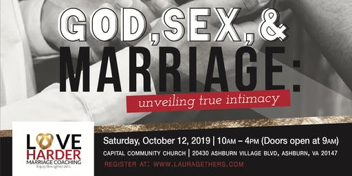 God, Sex, and Marriage Conference