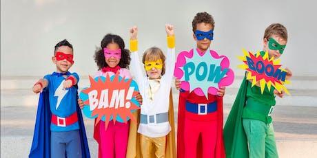 Super Hero love bag stuffing event tickets