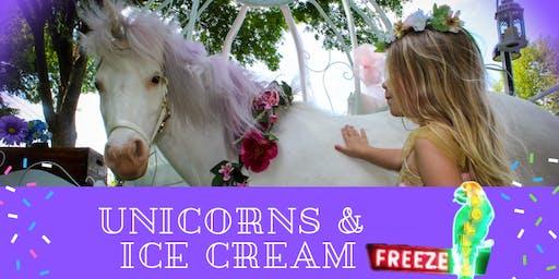 Unicorns & Ice Cream at Polly's Freeze