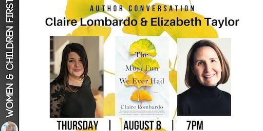 Claire Lombardo in conversation with Elizabeth Taylor