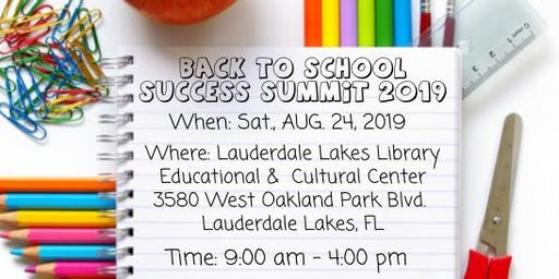 3rd Annual Back to School Success Summit 2019
