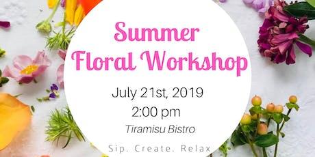 Floral Workshop @ Tiramisu Bistro tickets