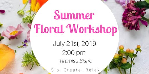 Floral Workshop @ Tiramisu Bistro
