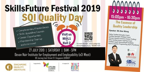SQI Quality Day: Complimentary Masterclass 3 tickets