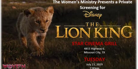"RMOBC Women's Ministry Presents ""The Lion King"" tickets"