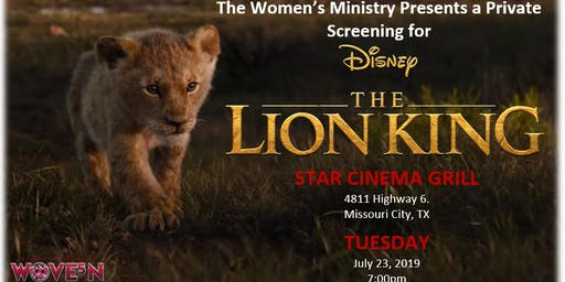 """RMOBC Women's Ministry Presents """"The Lion King"""""""