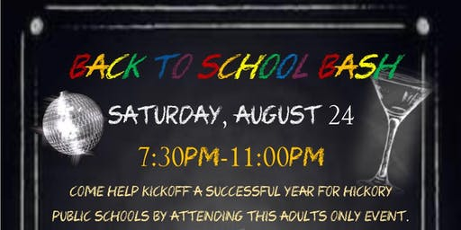 Hickory Education Foundation-Back to School Bash 2019