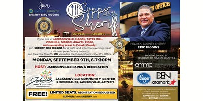 Supper with the Sheriff - JACKSONVILLE - September 9th