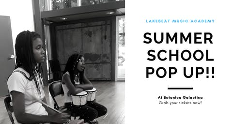 Lakebeat Music Academy + Botanica Galactica presents:Summer School Pop up!!