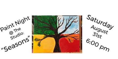 "Paint Night @ The Studio:  ""Seasons "" artwork on an 11x14 Canvas tickets"