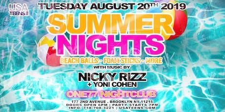 SUMMER NIGHTS - BROOKLYN, NY | 8.20.19 tickets