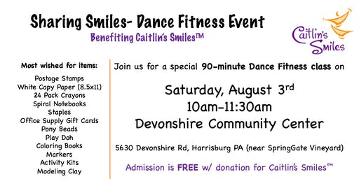 Sharing Smiles Dance Fitness Event for Caitlin's Smiles