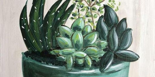 Succulent Arrangement Paintnite