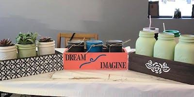 Mason Jar Paint Workshop July 24th