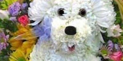 Puppy in a Basket Floral Design Class