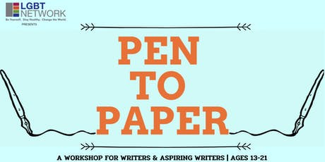 Pen to Paper - A Youth Writing Workshop tickets
