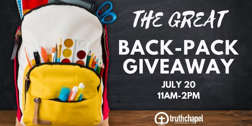 The Great Back-Pack Giveaway