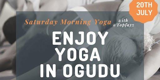 Saturday Morning Yoga with @topfayz